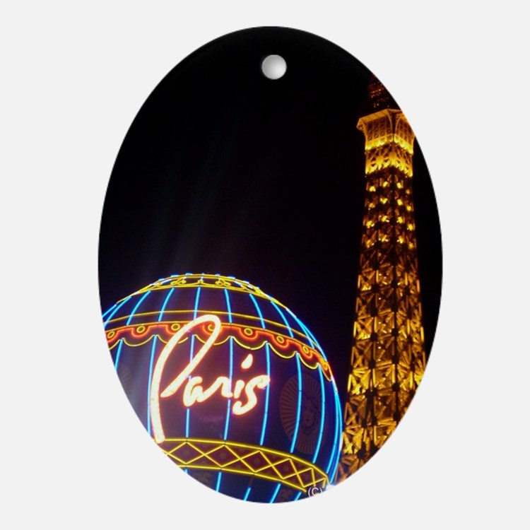 Paris Hotel in Las Vegas Ornament (Oval)