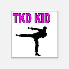 """TKD KID Square Sticker 3"""" x 3"""""""