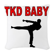 TKD BABY 2 Woven Throw Pillow