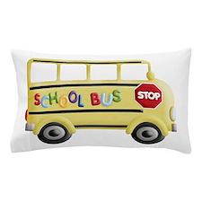 cute yellow school bus Pillow Case