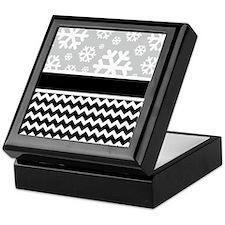 Snowflake Chevron Pattern Keepsake Box