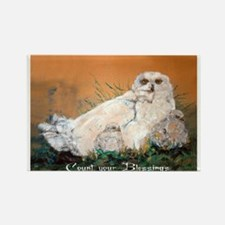 Snowy Owls Rectangle Magnet
