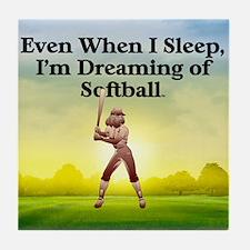 softballdreams1 Tile Coaster