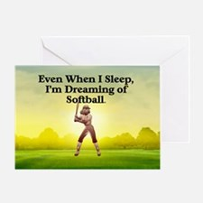 softballdreamssq Greeting Card