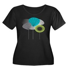 MCM 5 ca Women's Plus Size Dark Scoop Neck T-Shirt