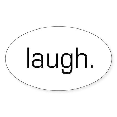 Laugh Oval Sticker
