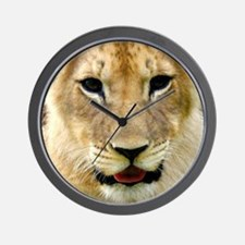 painting of lion cub Wall Clock