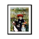 2 Sisters & Bernese Framed Panel Print