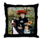 2 Sisters & Bernese Throw Pillow