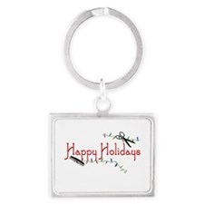Happy Hairstylist Holidays Landscape Keychain