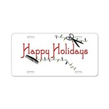 Happy Hairstylist Holidays Aluminum License Plate