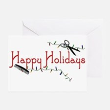 Happy Hairstylist Holidays Greeting Card
