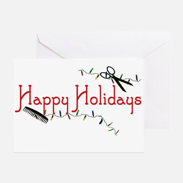 Happy Hairstylist Holidays Greeting Card