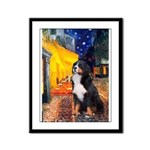 Cafe & Bernese Framed Panel Print