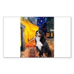 Cafe & Bernese Rectangle Sticker