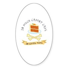 Carrot Cake Lover Oval Decal