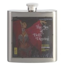 Vintage belly dance album cover Flask
