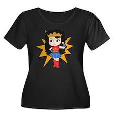 Super Gi Women's Plus Size Dark Scoop Neck T-Shirt