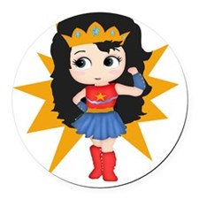 Super Girl Round Car Magnet