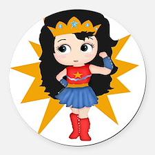 Super Girl Round Car Magnet