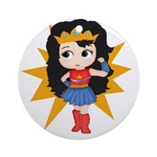 Super Girl Round Ornament