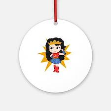 Super Girl Round Ornament