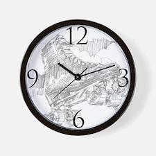 Cute Artistic skating Wall Clock