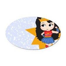 Super Girl Super Hero Oval Car Magnet