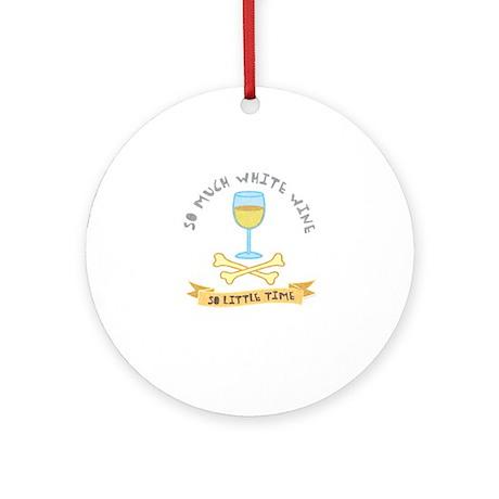 White wine tasting Ornament (Round)