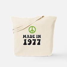 Made In 1977 Peace Symbol Tote Bag