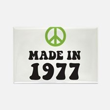 Made In 1977 Peace Symbol Rectangle Magnet
