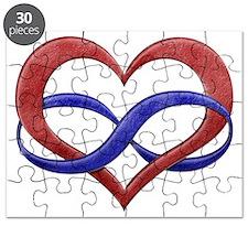 Infinity Heart Symbol - Polyamory Pride Fla Puzzle
