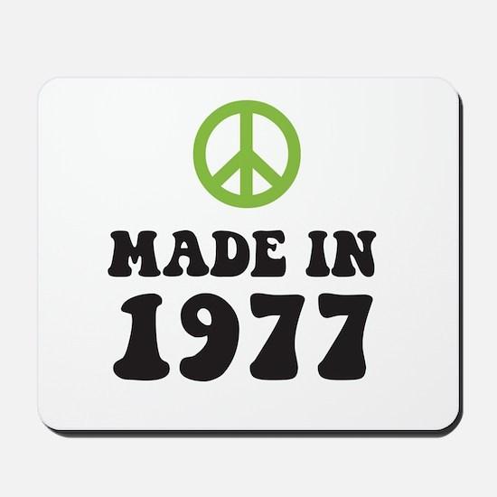 Made In 1977 Peace Symbol Mousepad