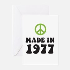 Made In 1977 Peace Symbol Greeting Cards (Package