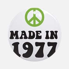 Made In 1977 Peace Symbol Ornament (Round)