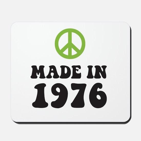 Made In 1976 Peace Symbol Mousepad