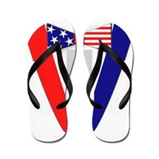 Funny American Flag Bowtie Tuxedo Flip Flops