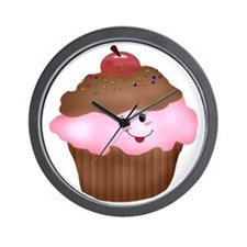 Sweet Cupcake Wall Clock