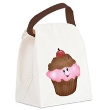 Sweet Cupcake Canvas Lunch Bag