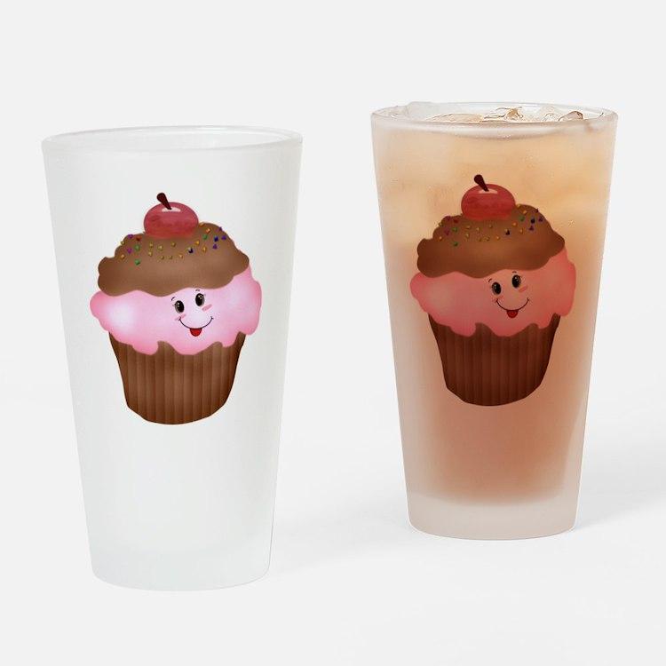 Sweet Cupcake Drinking Glass