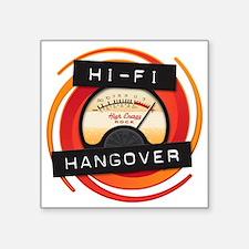 """Hi Fi Logo Transparent BG Square Sticker 3"""" x 3"""""""