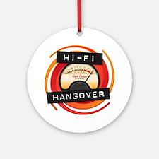 Hi Fi Logo Transparent BG Round Ornament