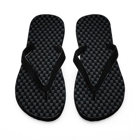 Carbon Mesh Pattern Flip Flops