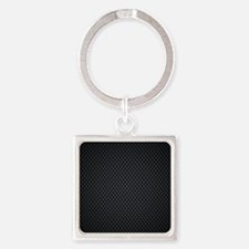 Carbon Mesh Pattern Square Keychain