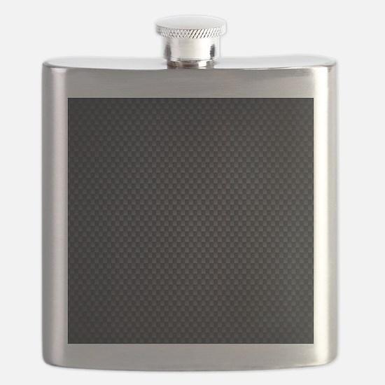 Carbon Mesh Pattern Flask