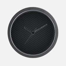 Carbon Mesh Pattern Wall Clock