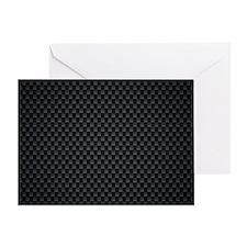 Carbon Mesh Pattern Greeting Card