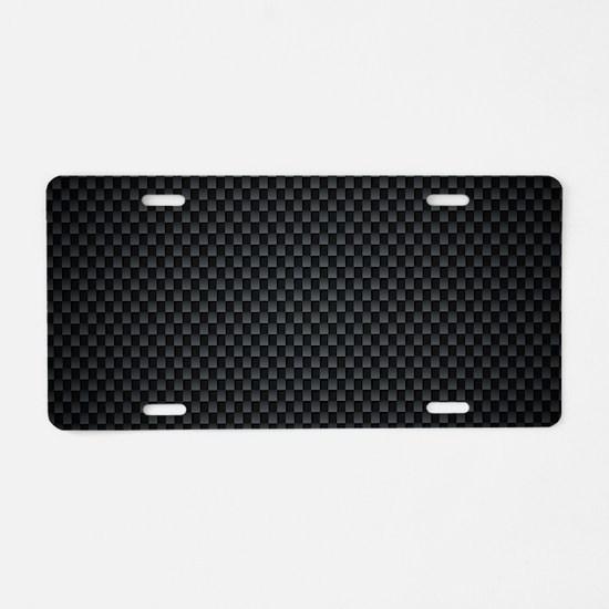 Carbon Mesh Pattern Aluminum License Plate