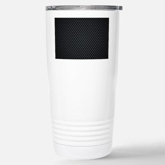 Carbon Mesh Pattern Stainless Steel Travel Mug