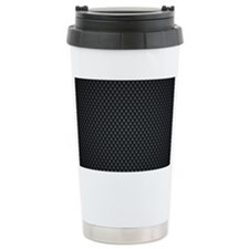 Carbon Mesh Pattern Travel Mug